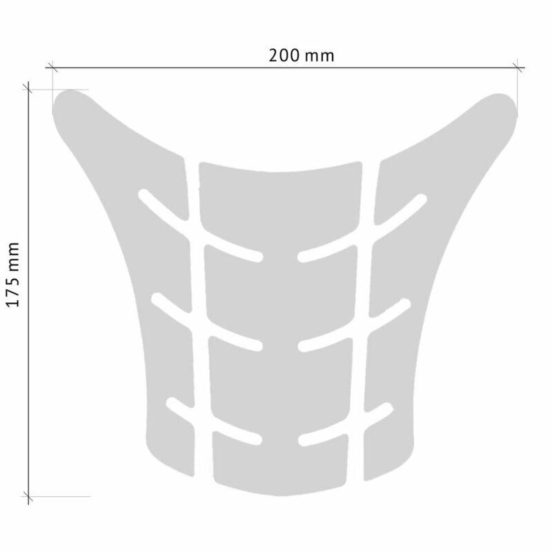 Protezione Serbatoio Adesiva 3D Tipo Originale, Ducati Monster Old misure