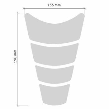 Protezione Serbatoio Adesiva 3D G.P. Modular, Transparent misure
