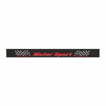 Fascia Parasole per Parabrezza Motorsport nero