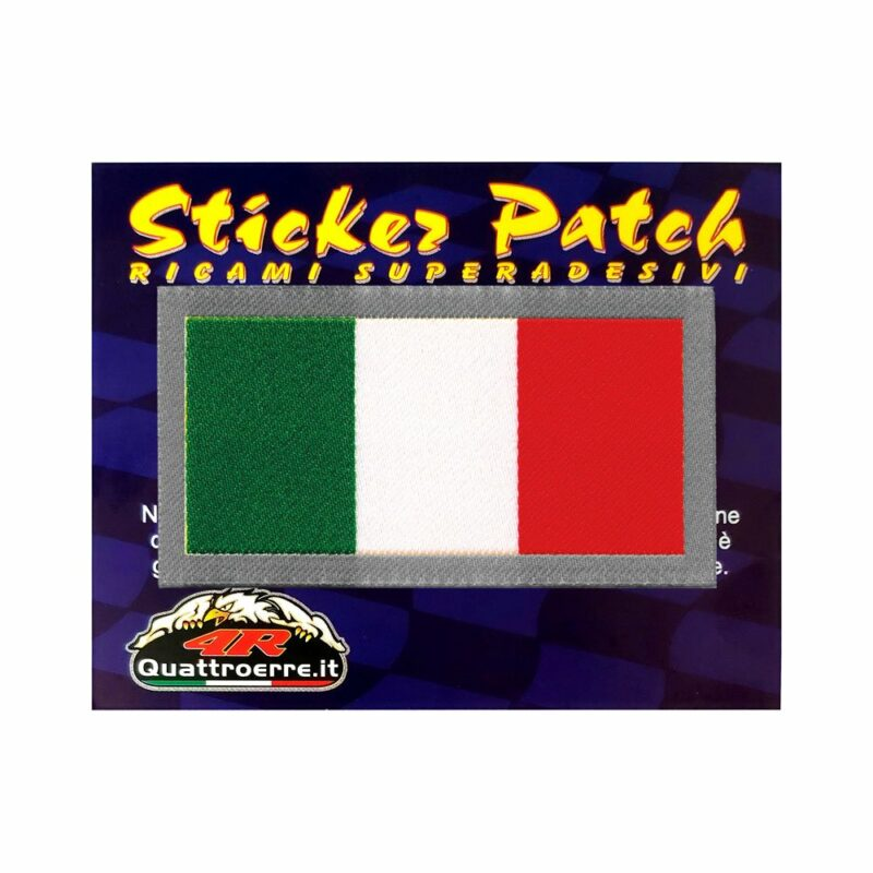 Patch Adesiva Bandiera Italia cartoncino