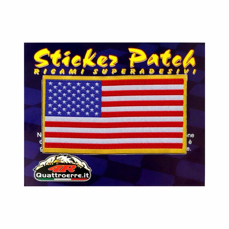 Patch Adesiva Bandiera Americana cartoncino