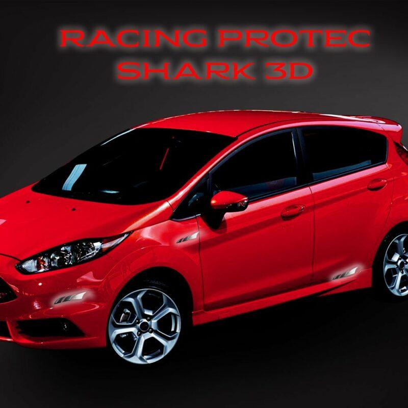 Adesivi 3D Racing Protec Shark applicazione