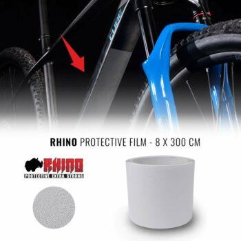 Pellicola Adesiva Rhino per Protezione Telaio Bici, Trasparente, 8 X 300 CM