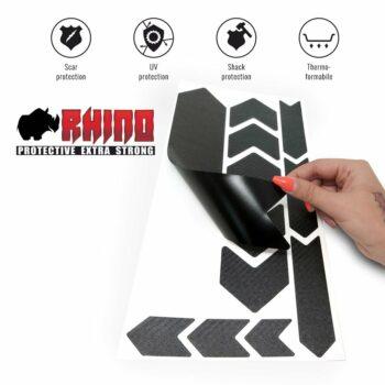 Kit Adesivo Protezione Telaio Bicicletta MTB Rhino, Carbon