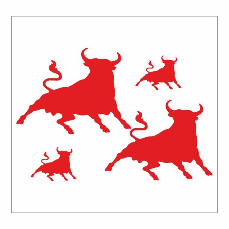 Adesivi Stickers Toro 13,5 x 16 cm rosso