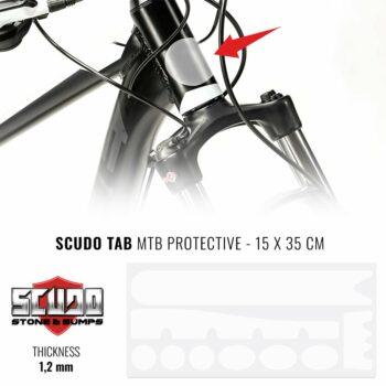 Kit Adesivo Protezione Telaio Mountain Bike Trasparente Unisex Adulto, 15 x 35 cm