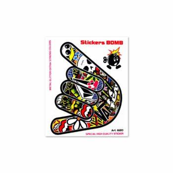 Adesivi Stickers Bomb 10 x 12 cm mano