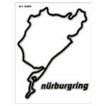 Adesivi Stickers Circuito Nurburgring 10 x 12 cm