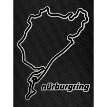Adesivi Stickers Circuito Nurburgring 10 x 12 cm su sfondo nero