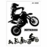 Stickers-Evolution-Biker-Cross-10x12cm-6332