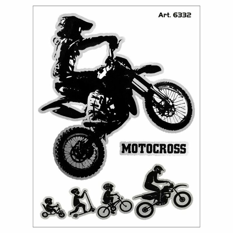 Adesivi Stickers Evolution Biker Cross 10 x 12 cm