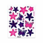 Adesivi Stickers Giganti Fiori e Farfalle 24 x 20 cm