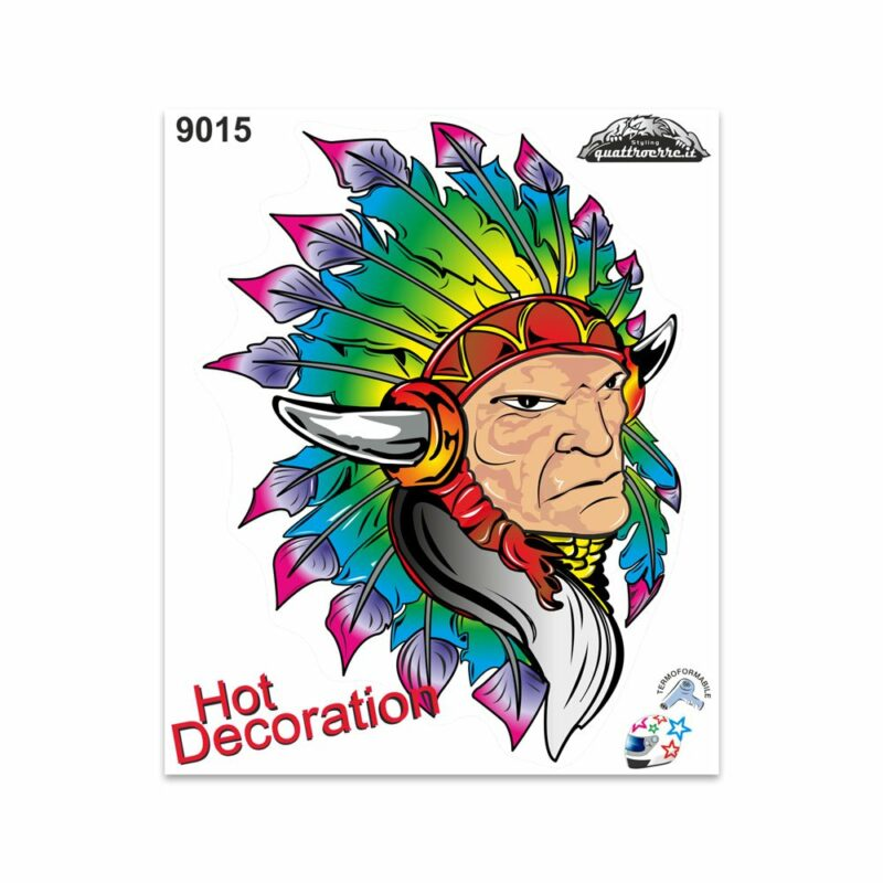 Adesivi Stickers Giganti Indiano D'America 24 x 20 cm
