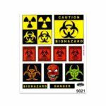 Adesivi Stickers Giganti Biohazard Danger 24 x 20 cm