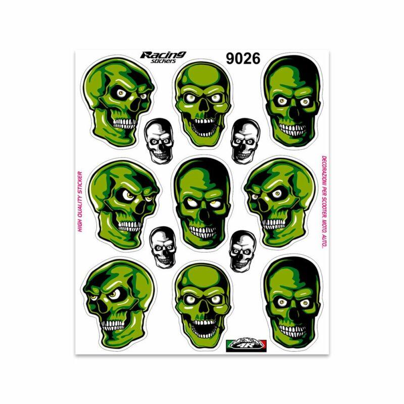 Adesivi Stickers Giganti Teschi 24 x 20 cm