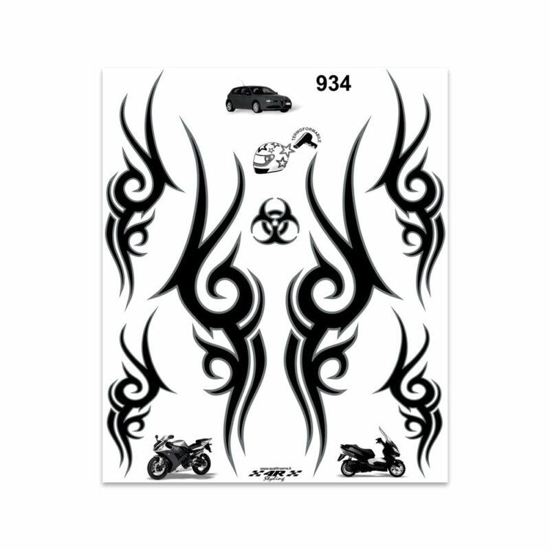 Adesivi Stickers Giganti Tribale 24 x 20 cm