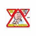 Adesivi Stickers Medi Bebe a Bordo 13,5 x 16 cm