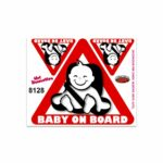 Adesivi Stickers Medi Baby On Board 13,5 x 16 cm