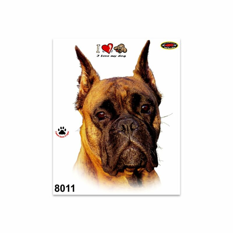 Adesivi Stickers Medi Cane Boxer 13,5 x 16 cm