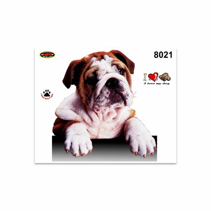 Adesivi Stickers Medi Cane Bulldog 13,5 x 16 cm