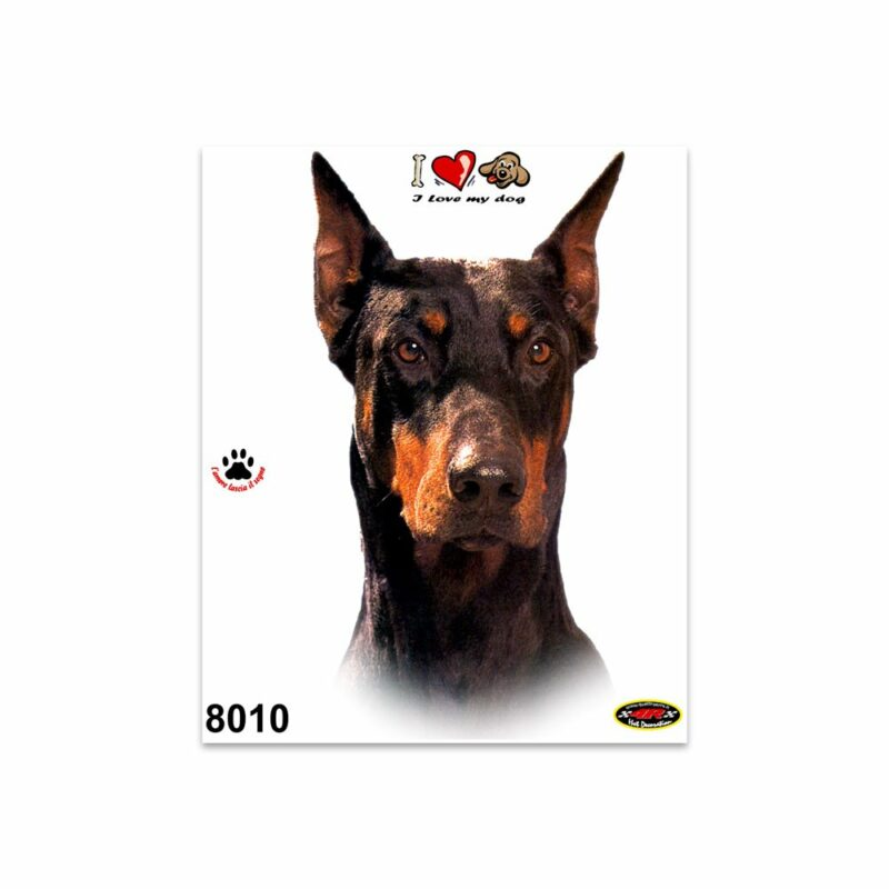 Adesivi Stickers Medi Cane Dobermann 13,5 x 16 cm