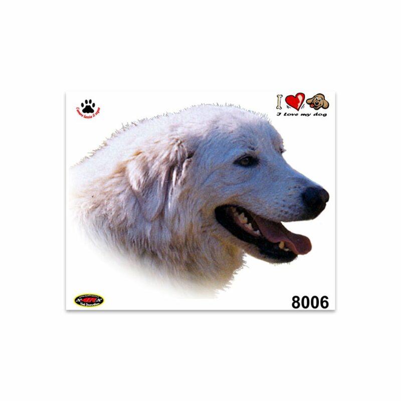 Adesivi Stickers Medi Cane Maremmano 13,5 x 16 cm