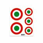 Adesivi Stickers Medi Coccarde Italia 13,5 x 16 cm