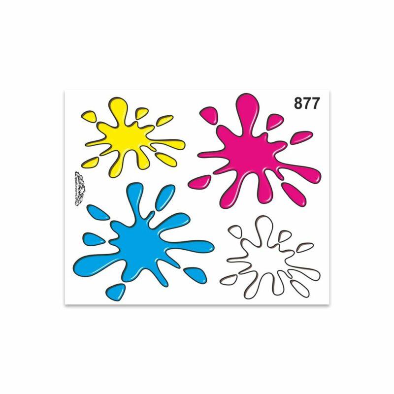 Adesivi Stickers Medi Tris Splash 13,5 x 16 cm
