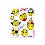 Adesivi Stickers Medi Emoji 13,5 x 16 cm
