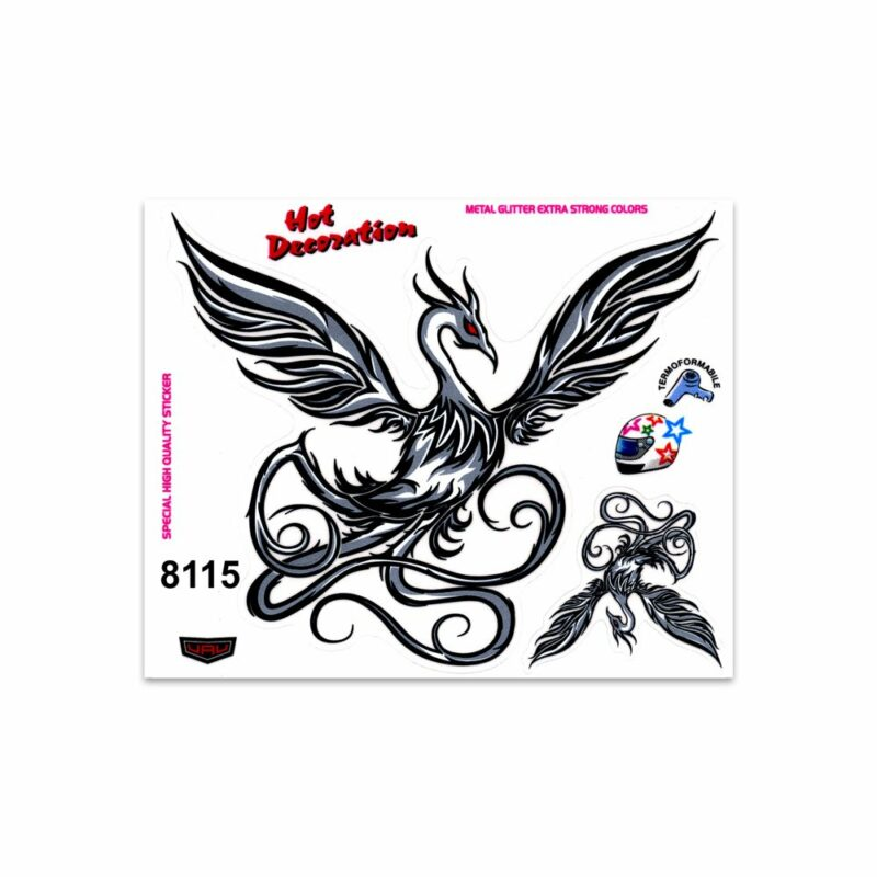 Adesivi Stickers Medi Fenice 13,5 x 16 cm
