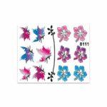 Adesivi Stickers Medi Fiori e Farfalle 13,5 x 16 cm