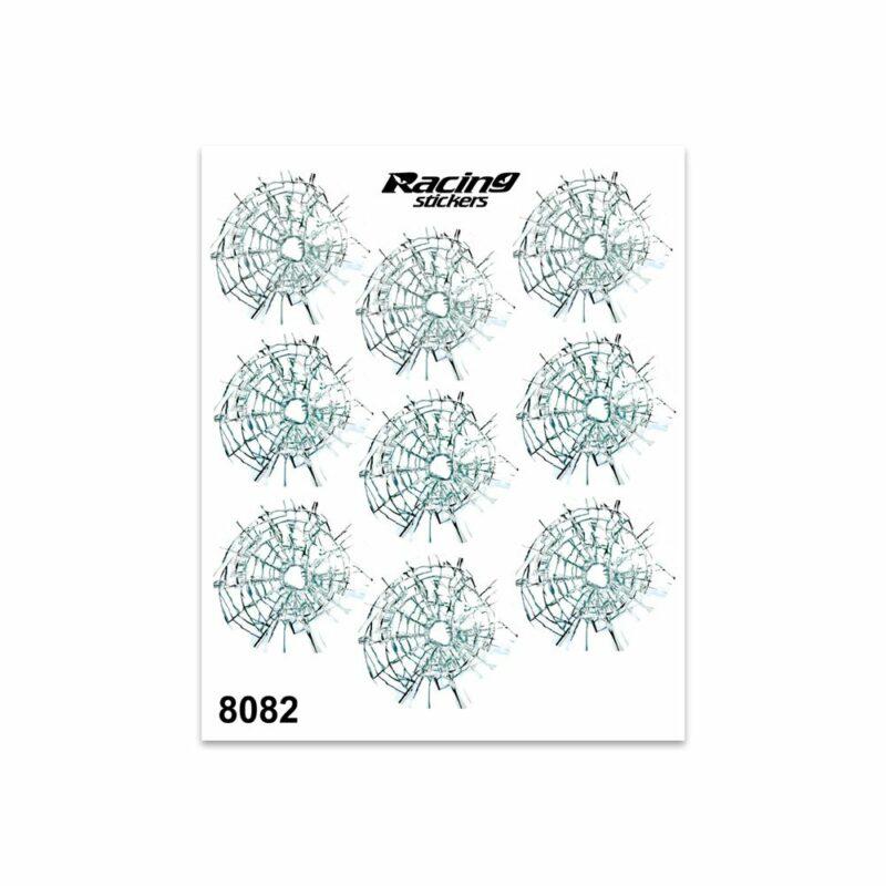 Adesivi Stickers Medi Fori Proiettili 13,5 x 16 cm