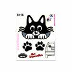 Adesivi Stickers Medi Gattino Auto 13,5 x 16 cm
