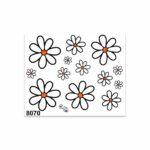 Adesivi Stickers Medi Margherite 13,5 x 16 cm