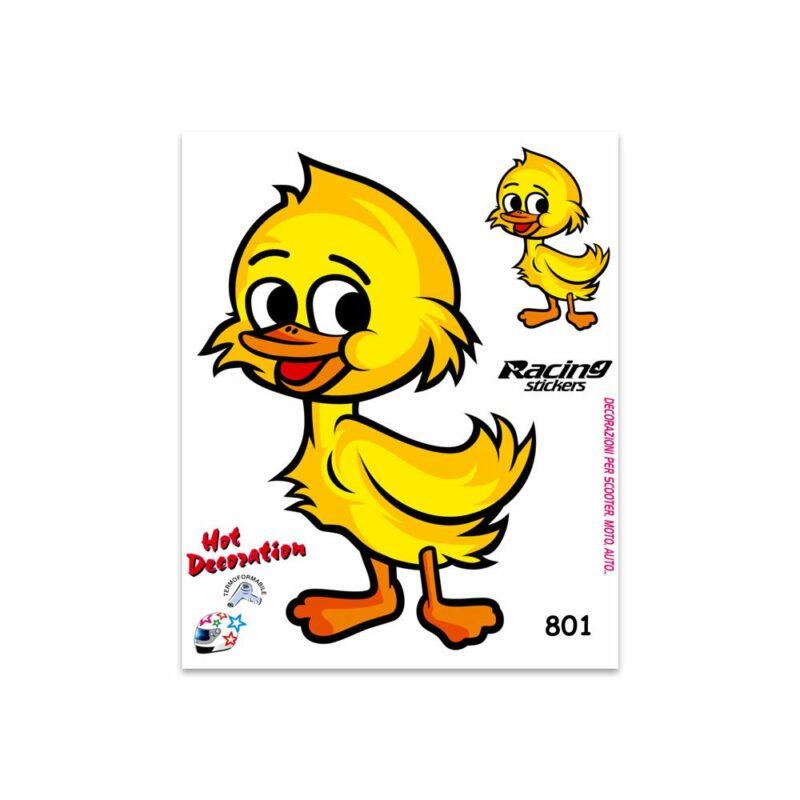 Adesivi Stickers Medi Papero 13,5 x 16 cm