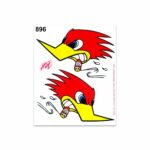 Adesivi Stickers Medi Picchio 13,5 x 16 cm