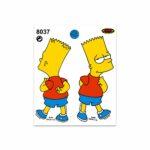 Adesivi Stickers Medi Bart 13,5 x 16 cm