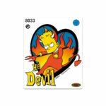 Adesivi Stickers Medi Bart Devil 13,5 x 16 cm