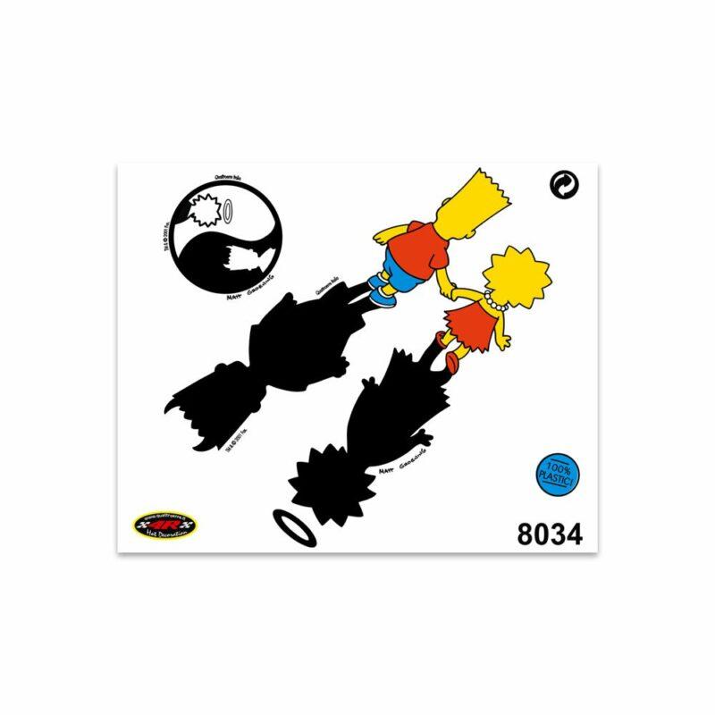 Adesivi Stickers Medi Bart & Lisa 13,5 x 16 cm