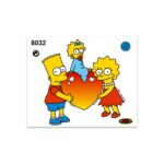 Stickers-Medi-Simpsons-Bart-Lisa-Meggie-Cuore-8032