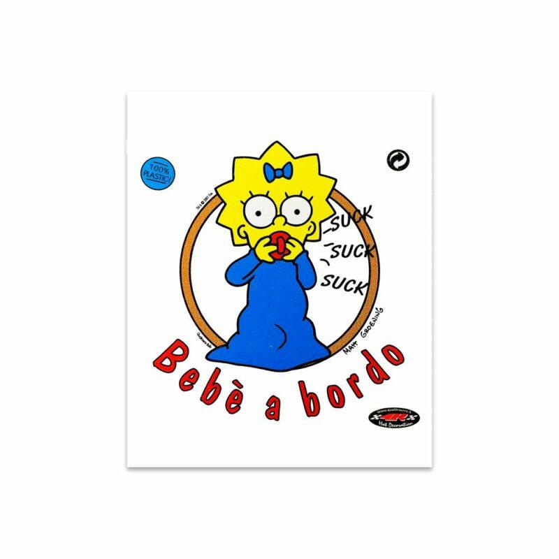 Adesivi Stickers Maggie a Bordo 13,5 x 16 cm