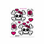 Stickers-Medi-Teschio-Fiocco-Rosa-8117