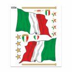 Adesivi Stickers Midi Bandiera Italia 35 x 25 cm