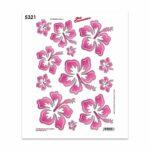 Adesivi Stickers Midi Fiori 35 x 25 cm rosa