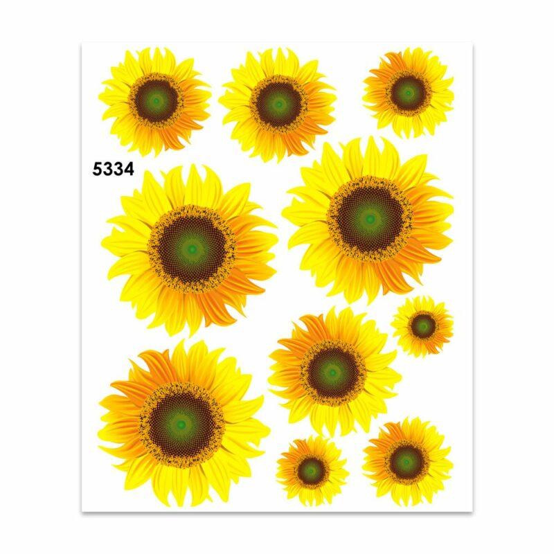 Adesivi Stickers Midi Girasoli 35 x 25 cm
