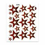 Adesivi Stickers Midi Stella 35 x 25 cm rossa