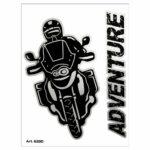 Adesivi Stickers Moto Adventure 10 x 12 cm