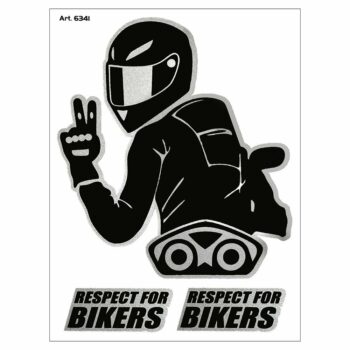 Adesivi Stickers Respect For Biker 10 x 12 cm