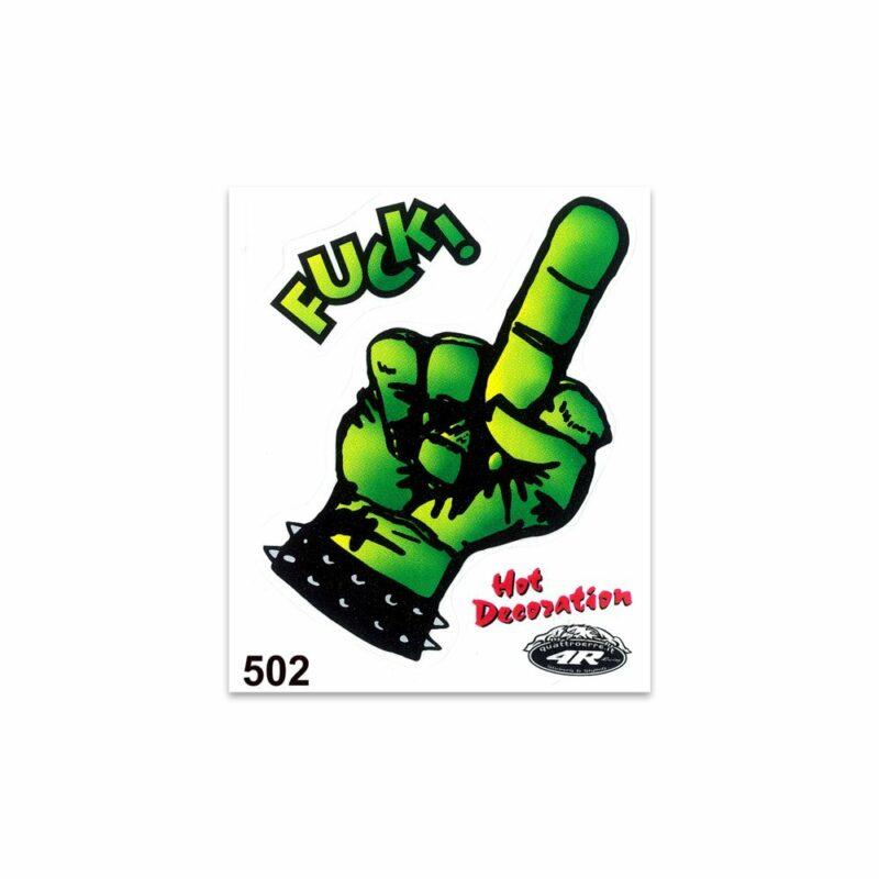 Adesivi Stickers Standard Fuck Dito Medio 10 x 12 cm