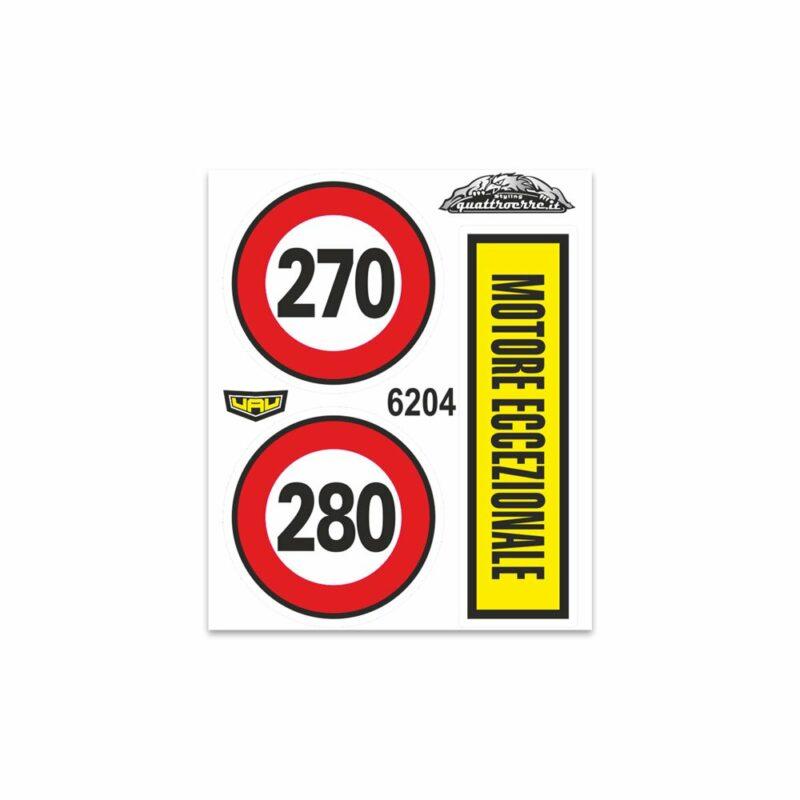 Adesivi Stickers Standard Motore Eccezionale 10 x 12 cm
